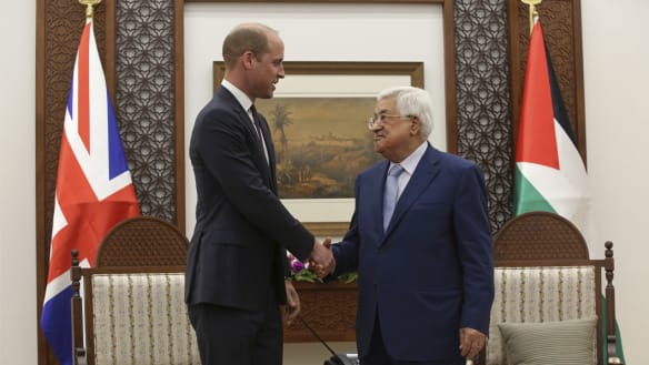 Britain stands with you, Prince William tells Palestinians