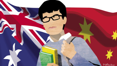 Chinese students account for 60 per cent of all international students at Australia's top universities.