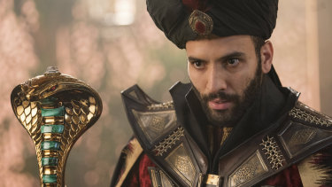 Marwan Kenzari plays the wicked Jafar with  absolute conviction.