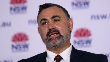 NSW Deputy Premier John Barilaro pictured on Tuesday.