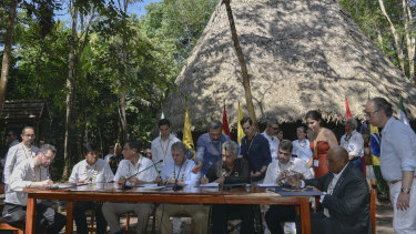South American Amazon countries met to agree on cooperating to save the rainforest.