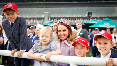 Cathy McEvoy and the kids wait for Kerrin to return on Classique Legend.