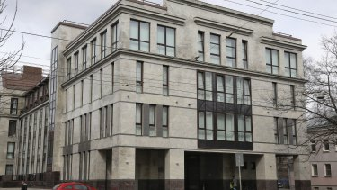 The building in St Petersburg where Russian trolls worked to interfere in the 2016 US election.