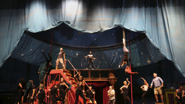 The cast has been able to rehearse on the stage rather than in a studio.