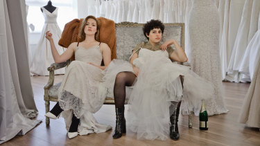 Holliday Grainger and Alia Shawkat in Animals.