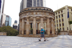 The city of Brisbane was a ghost town last year as ANZAC Day marches and services were cancelled.