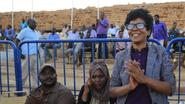 Sudanese watch the women's teams play in Omdurman. The women's soccer league has become a field of contention as Sudan grapples with the transition from three decades of authoritarian rule that espoused a strict interpretation of Islamic Shariah law.