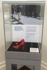 Julie Bishop's shoes at the Museum of Australian Democracy in Canberra.