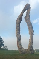 The Peter Lundberg sculpture at Hillview, Sutton Forest.