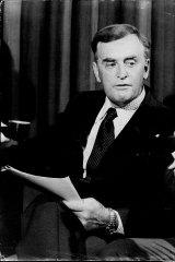Queensland Premier, Joh Bjelke-Petersen in 1975.