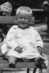 Prince Philip of Greece, later the Duke of Edinburgh, as a toddler in July 1922.