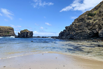 The rock pools at Bushrangers Bay, known by local surfers as the Mornington Peninsula's most remote beach.