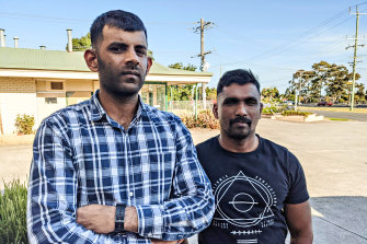 Medevac detaineesSubeshan Kanagalingam (left) and Parkeerathan Palasingam have been released from a Melbourne hotel after years in immigration detention.