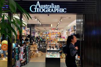 The Australian Geographic store in Westfield Parramatta, which will be rebranded as My Geographic.