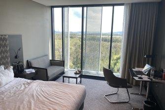 The Pullman Hotel room near Brisbane airport.