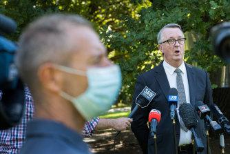 Health Minister Martin Foley on Thursday.