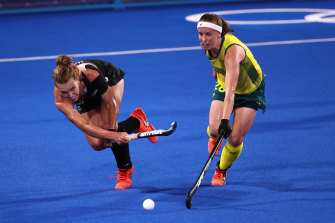 Emily Chalker was the match winner for the Hockeyroos on Thursday.