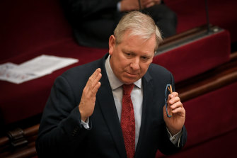 Liberal MP and leader of the upper house David Davis was frustrated by Labor knocking back his proposal.