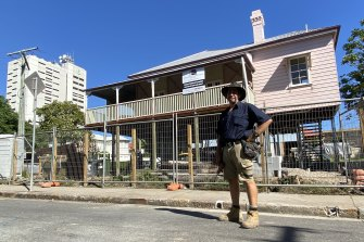Builder Shane Smith has been renovating Queenslanders and workers cottages in Woolloongabba for 20 years. He predicts the suburb to boom as the 2032 Olympics approach.