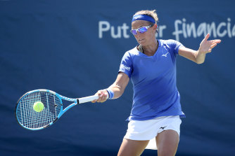 Kirsten Flipkens cannot leave the US Open bubble despite being out of the tournament.