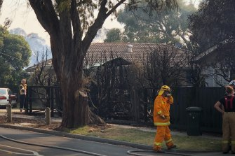 Firefighters at Seaford after a series of blazes following gas explosions at a nearby residential property.