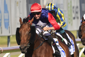 Nash Rawiller gets Sweet Deal home in The Hunter.