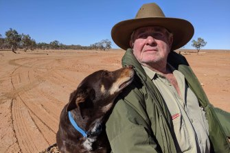 Bill O'Connor, with his dog Bailey, plans to buy a property closer to Broken Hill after the sale of his property for what will become a new national park.