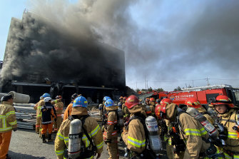 At least 36 people were killed in a fire that broke out at a warehouse construction site.