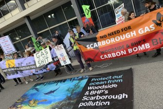 The government is facing pressure from all sides over Scarborough including from green groups, one of which rallied last Friday outside Dumas House.