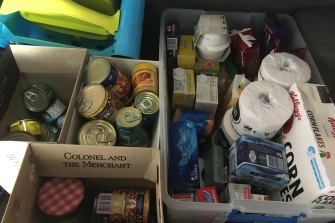 A collection of goods to be donated to the Asylum Seeker Resource Centre.