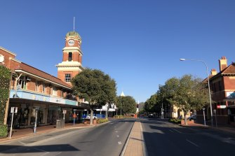 The city of Albury during an earlier lockdown this year.