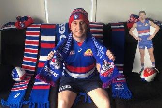 Bulldogs supporter Sam Twaddle