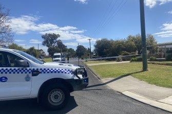 Police cordoned off Berkshire Street after discovering the bodies.