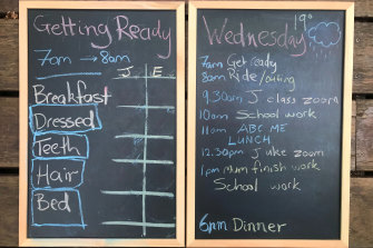 And some families are preferring to go retro with a blackboard and chalk.