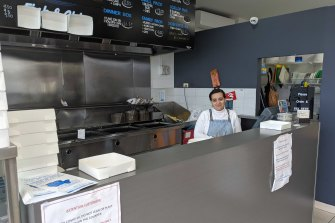 Claudette, one of the owners of Union Square Fish and Chip shop that falls just inside the West Brunswick border.