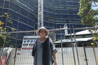 Kangaroo Point resident Lori Sexton says the overdevelopment of Kangaroo Point is not being checked by Brisbane City Council planners.