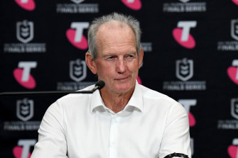 """Wayne Bennett said the Broncos """"undermined me in their conversations with Souths""""."""