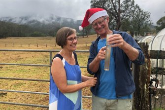 Sue and Phil Sutton are celebrating after receiving 18mm of rain at their Upper Lansdowne property.