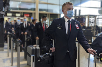 International flight crews in Melbourne currently undertake their own biosecurity protocols outside the state's hotel quarantine program.