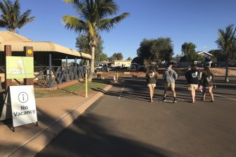 An influx of domestic tourists has seen accommodation booked out at Exmouth.