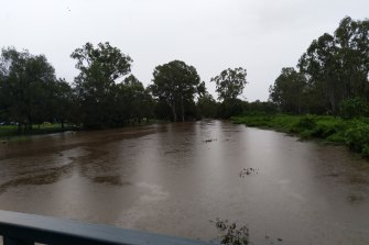 Bulimba Creek has flooded in Brisbane.