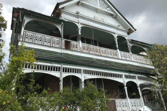 The heritage-listed Lamb House on Leopard Street at Kangaroo Point.