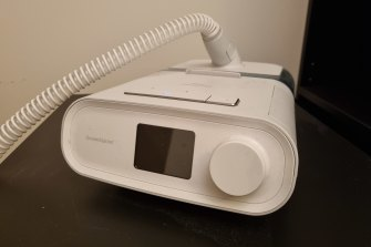 A Philips Dreamstation CPAP machine, one of the dozens of models affected by the recall.