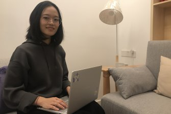Chinese student Katherine Qi is enrolled at the University of NSW.