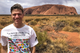World traveller Jayson Dudas is going to be one of the last people to climb the rock.