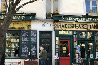 Shakespeare and Company bookshop, on the Left Bank of the Seine in Paris.