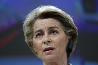 European Commission President Ursula von der Leyen says she would take the AstraZeneca dose.