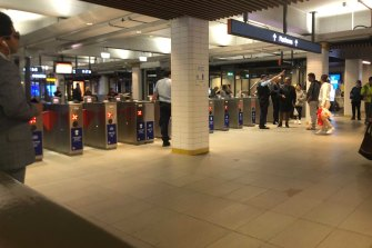 Commuters at Town Hall station were told to catch buses instead.