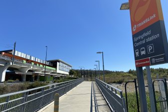 Springfield Central train station is one hub of the proposed Ipswich to Springfield Central public corridor, where access towards Ripley appears restricted.