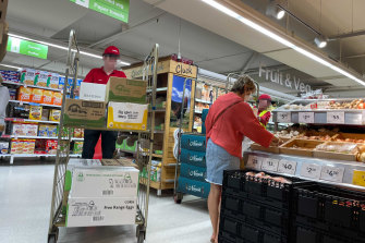 Customers at Coles in Newport were concerned to see staff without masks on Saturday.